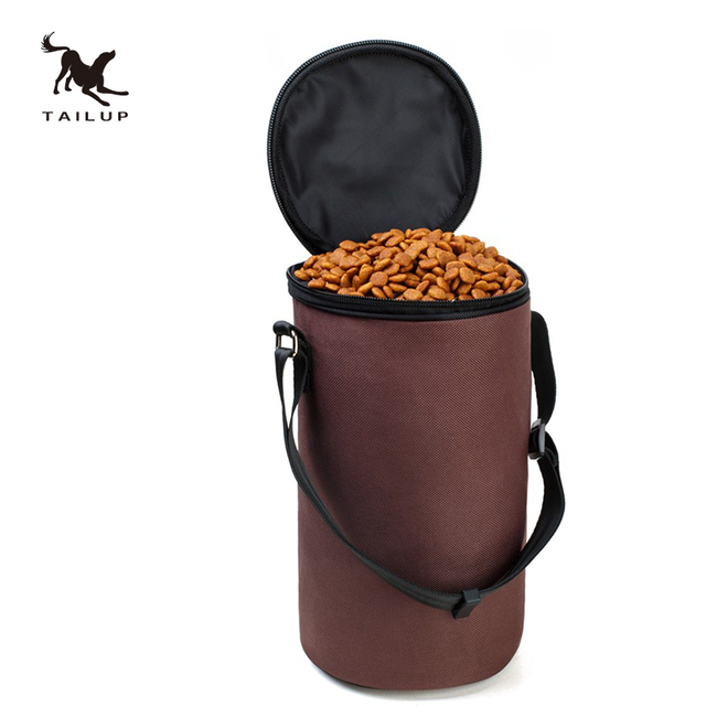 TAILUP High Ending Oxford Waterproof Food Bag Dog Feeders Travel Bowls Dry Food Container bag for dog food
