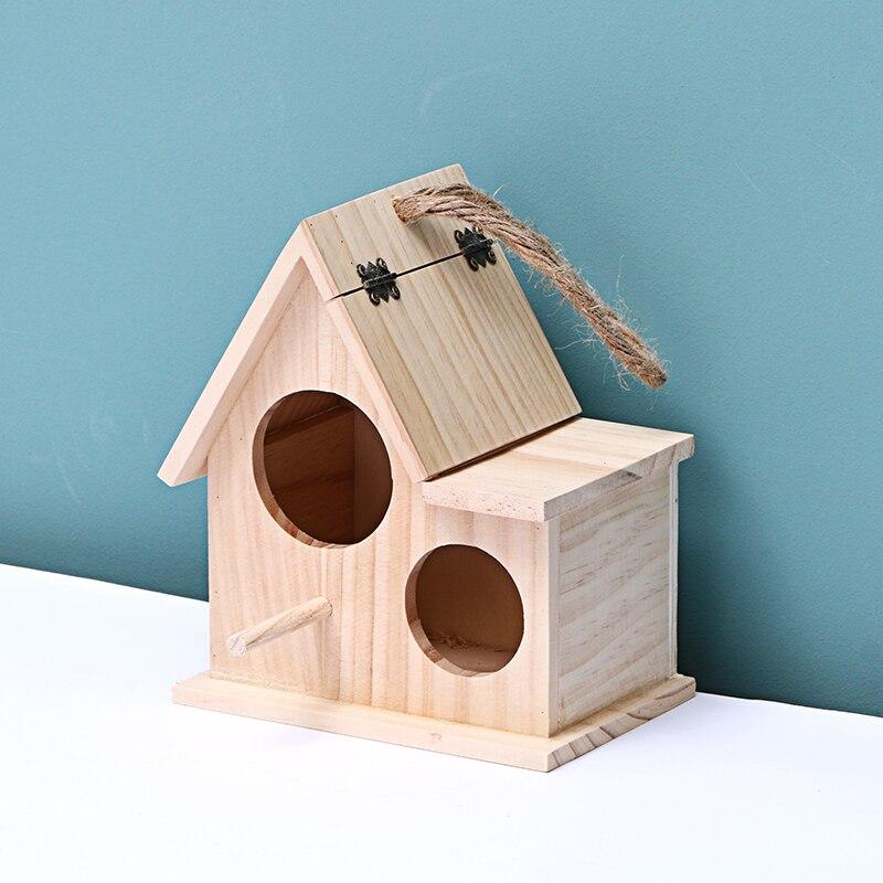 Wooden Bird House Hanging//Nest//Feeding Box Handmade For Home Garden Decor L