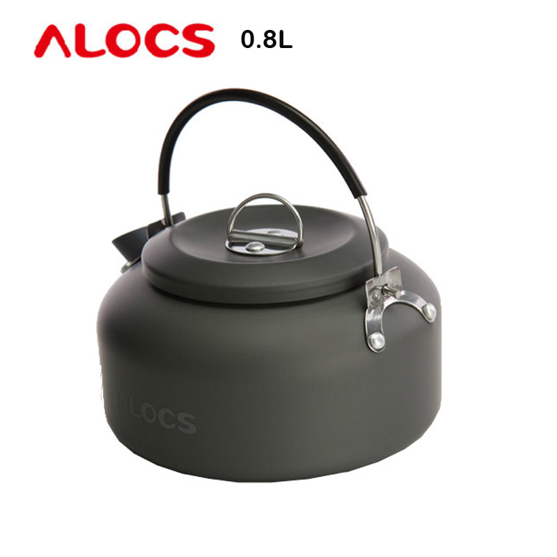 Alocs CW-K02 0.8L water Kettle coffee teapot outdoor pot Silica Gel Handle with Mesh bag