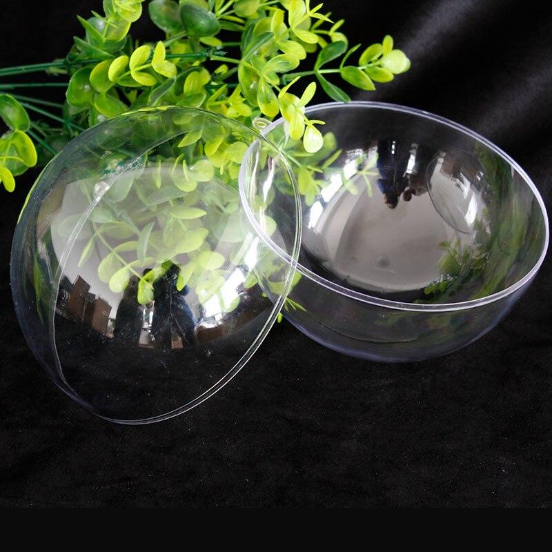 Christmas Tree Producers Part - 26: 10CM 5PCS Christmas Tree Decor Ornament Ball Type Box Transparent Plastic  Craft Christmas Gift Boxes Plastic Ball