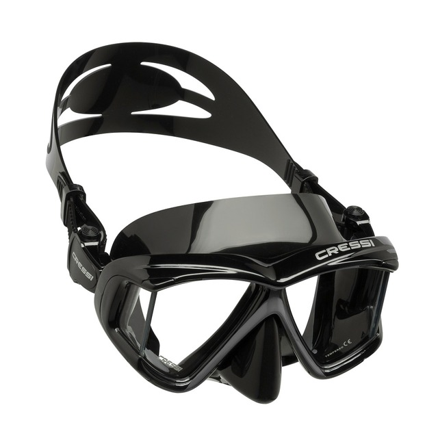 Cressi PANO 4 Wide View Scuba Diving Mask Silicone Skirt Three-Lens Panoramic Dive Mask Snorkeling for Adults
