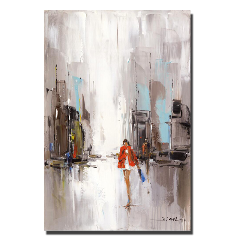 Beautiful City Scenery Oil Painting Print On Canvas Abstract Home Goods Wall Art Pictures Cuadros Decoration For Christmas Gifts