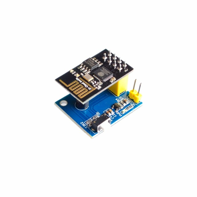 US $3 3  ESP8266 ESP 01 DS18B20 Temperature Sensor Module esp8266 Wifi  Wireless node module with ESP 01 Smart Home IOT DIY Kit-in Integrated  Circuits
