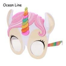 Adorável Unicorn Partido Engraçado Óculos de Sol Do Partido Do Traje  Crianças Rosa Dos Desenhos Animados a8f56c85a7