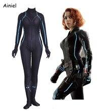 Black Widow Costume Adult Kids Superhero Cosplay Costume Zeitai Badysuits Suit Jumpsuits Spandex Halloween Women Kids