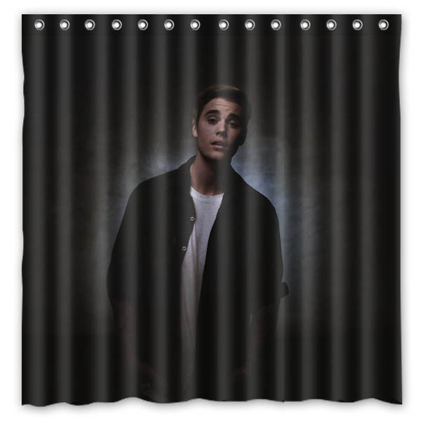 Waterproof Shower Curtain With Hooks Justin Bieber Water Resistant Bath Bathing Screen Custom Bathroom Decoration 7171 Inch In Curtains From Home