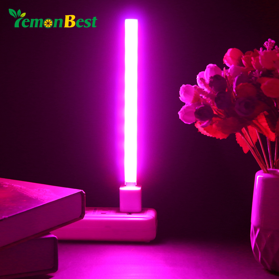 USB DC 5V 14/27 LED Grow Light 3W 5W Red&Blue Hydroponic Plant Growing Light Bar for Desktop Plant Flower Growing Full spectrum(China)