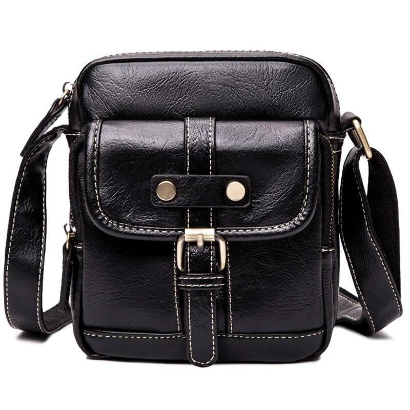 9b50b3413c1ac Luxury Brand Men Bags High Quality Black Leather Shouder Bag Business Male  Messenger Bag For Man
