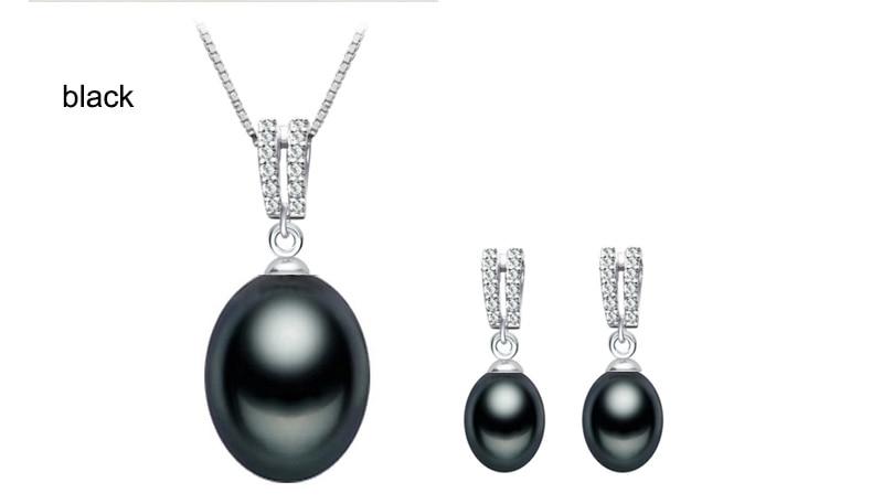 ZHBORUINI 2019 Juego de joyas de perlas Collar de perlas de agua - Joyas - foto 2
