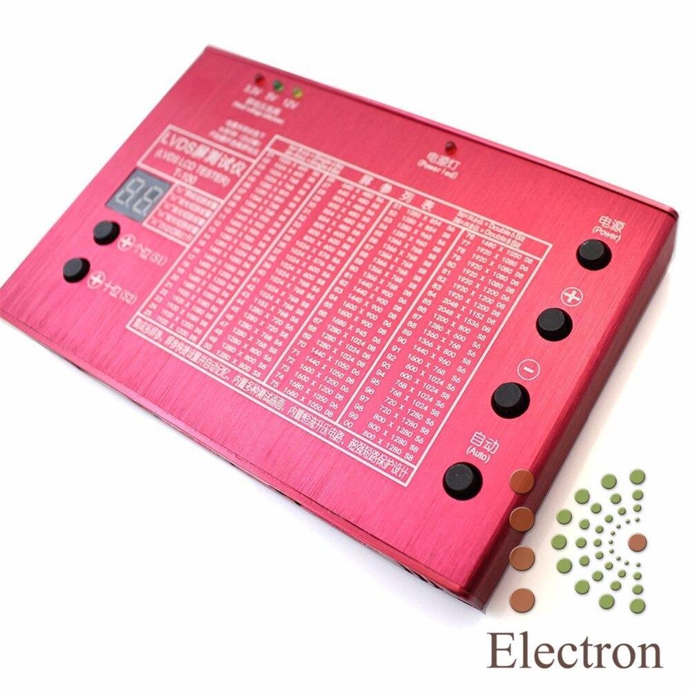Ноутбук ТВ ЖК-дисплей/светодиодный Панель тестер Алюминий оболочки для 7-84 экран Встроенный 100 программ w/ LVDS кабели и инвертор и светодиодны...