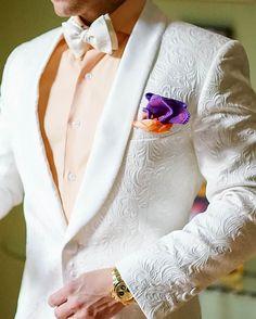 609594152 Белый Пейсли мужские Костюмы жениха Смокинги для женихов Groomsmen  Свадебная вечеринка ужин Best человек Костюмы блейзер
