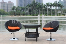 Outdoor rattan material bar stools set furniture designs
