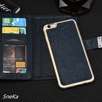 For Samsung Galaxy A3 2017 Case Luxury Detachable Vintage Three Fold Leather Flip Silicone Case Wallet