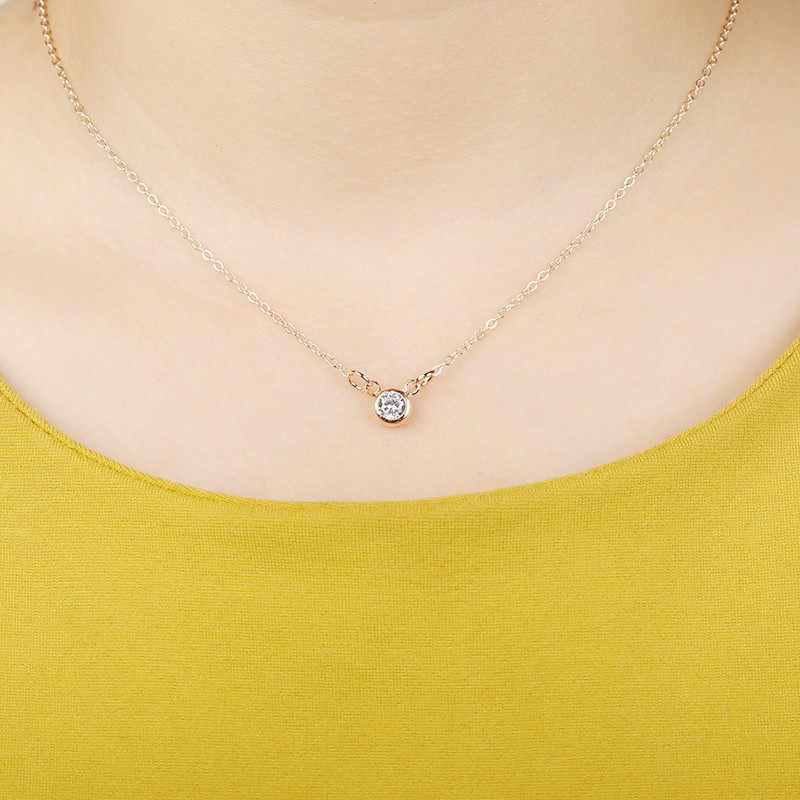Małe złoto srebro nazwa początkowa Choker naszyjnik i serce wisiorek naszyjnik kobiety Collares Collier prezent biżuteria