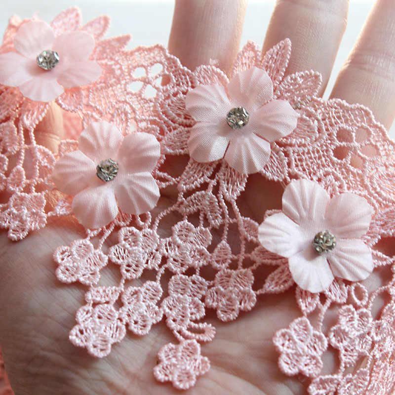 9 cm 2 Yards boncuklu yapay elmas Kristal Dantel Trim Şerit Dikmek Wrap düğün elbisesi Trims Dikiş Aksesuarları DIY Parti Şapka Dekor