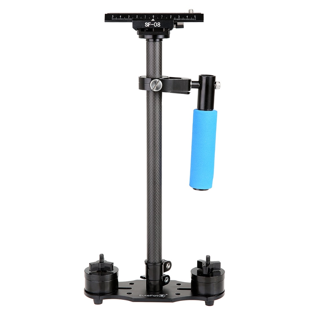 New Arrvial SuteFoto SF-08 80cm Carbon Fiber Handheld Stabilizer with Quick Release Plate for Camcorder DV Video Camera DSLR 1sheet matte surface 3k 100% carbon fiber plate sheet 2mm thickness