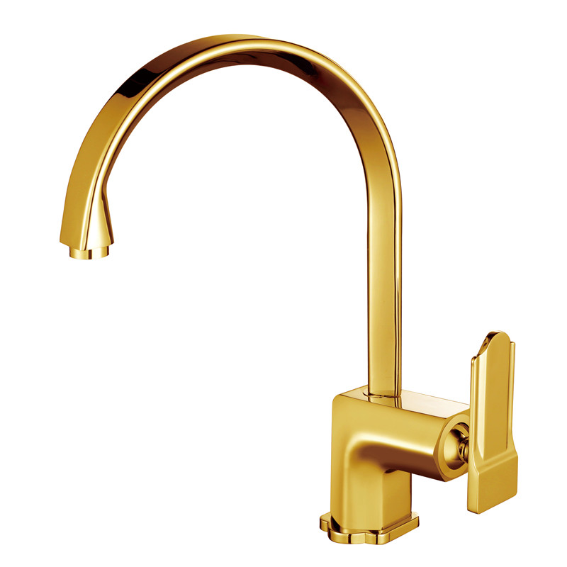 2017 Wholesale New Arrival Golden Exclusive Kitchen Faucet Modern Style Swivel Sink Mixer Taps