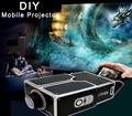 Fochutech 2016 Updated Cardboard Mini Smartphone Projector/DIY Mobile Phone Projector Portable Cinema For Iphone 6 Plus