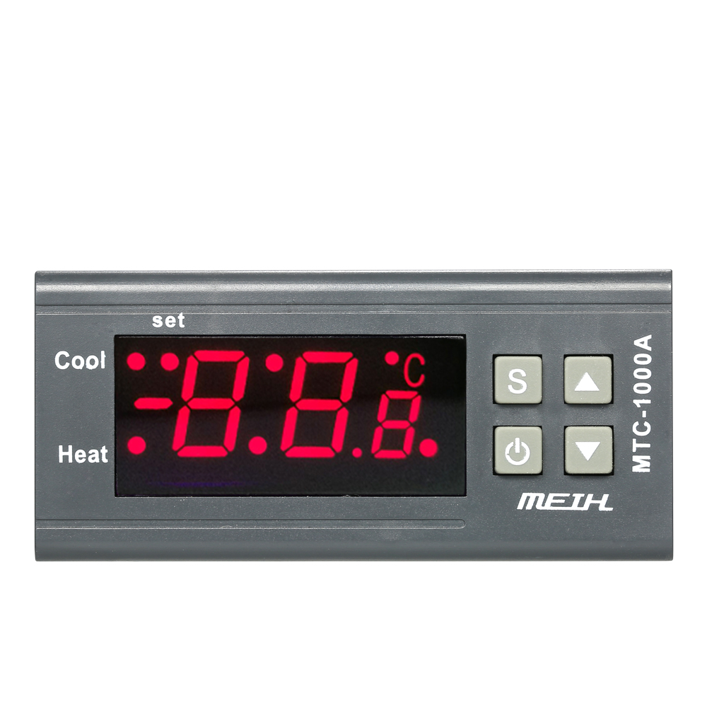 AC220V Digital Thermoregulator LED Temperature Controller Thermometer Heating and Cooling Thermostat with NTC Sensor 2 Relays