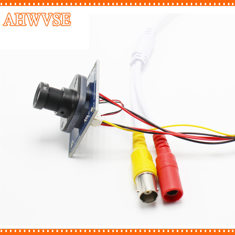AHWVSE HD 1200TVL CCTV Analog Camera module board with IR-CUT and BNC cable 2.8mm lens
