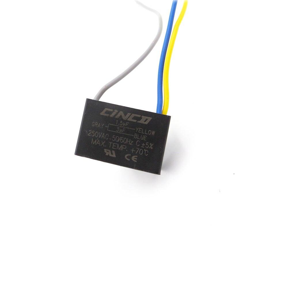 Home Preiswert Kaufen Cbb61 1,5 Uf 3 Uf 250 V 3 Drähte Motor Run Kondensator Elektrische Fan 3 Geschwindigkeit Elektrische Fanners Elektronische Fan Regler Kabel 250vac