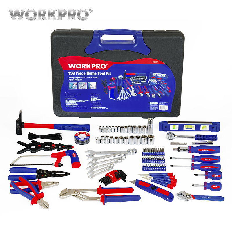 Screwdrivers 139PC Sockets Set Spanner Household Tools Wrench Set Pliers Tool WORKPRO Home