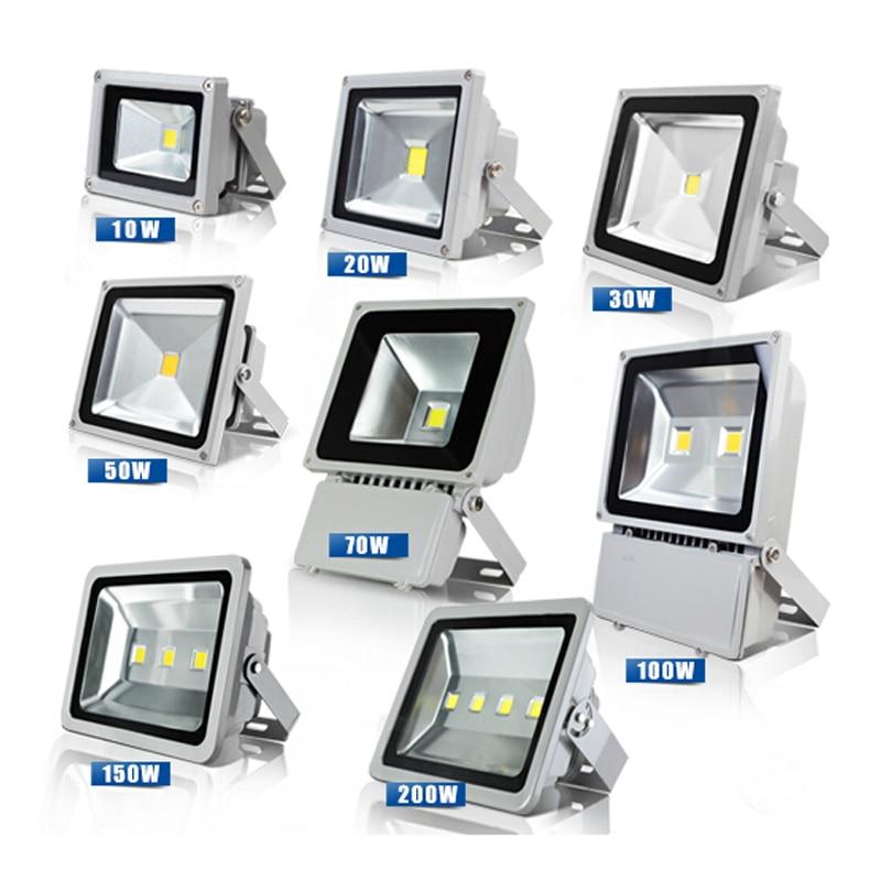 2pcs Spot Led Flood Light 10W 20W 110V 220V 4000K Outdoor Lighting Advertising Lights Projector Lamp Floodlight
