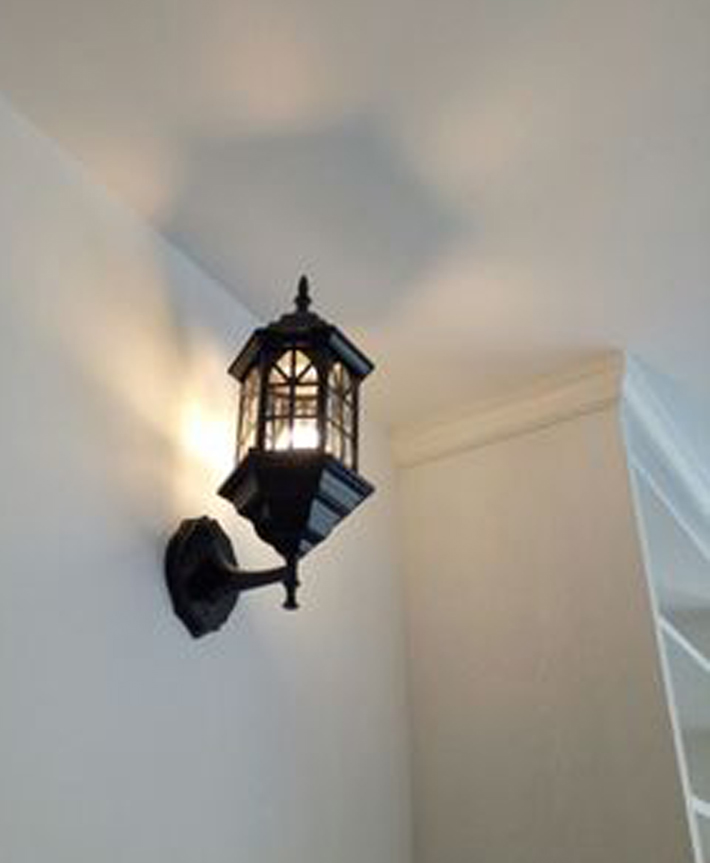 Outdoor Wall Light Outside Lamp Lantern Antique Lamps With Led ...