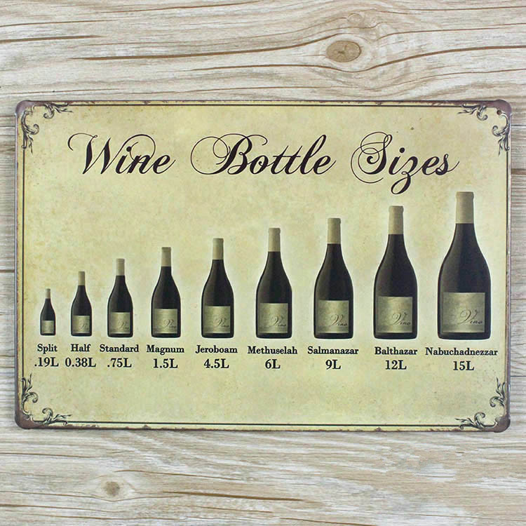 Vintage home wall art decor metal tin wine signs retro plaques house ...