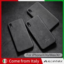 SanCore для iPhone X Xr Xs Max чехол для телефона кожа Алькантара Бизнес ТПУ Люкс Премиум узор Обложка для сотового телефона чехол