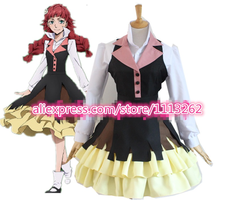 Bungo Stray Dogs Lucy Maud Montgom font b cosplay b font costume Lolita party girl dress