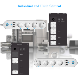 Image 4 - WiFi Smart Power Strip Socket Voice Control Timer Switch Power Strip Outlet with 4 AC Outlets 3 USB Port for Alexa Google Home