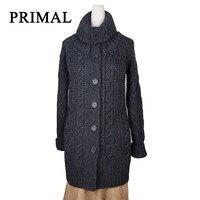 Повседневный вязаный длинный женский кардиган свободный кардиган вязаный джемпер 2018 теплый зимний свитер женский кардиган пальто Pull верхн