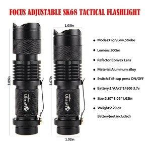 Image 2 - Ultrafire Linterna de mano con Zoom, 3 modos, 300LM, linterna de caza, linterna para acampada, luz de 14500 de reflejos