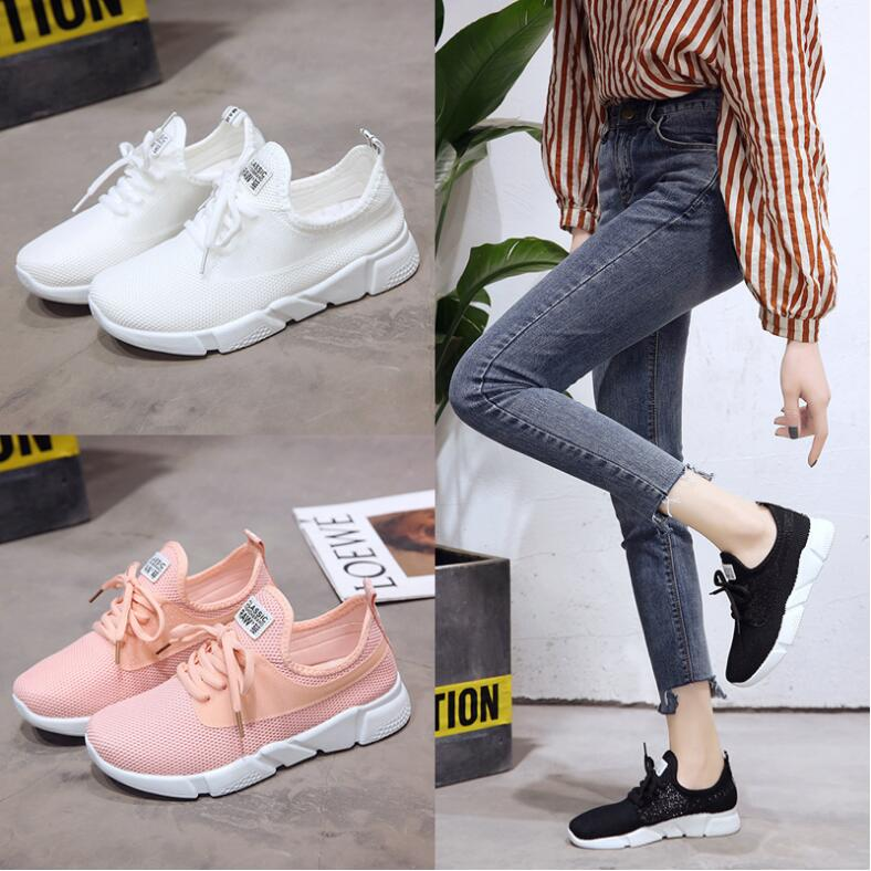 18 Summer Air Mesh Student Breathable Lace Up Outdoor Women Shoes Lightweight Woman Vulcanized Sneakers Shoes 9