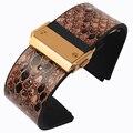 25*19mm de Alta qualidade pulseira de couro Genuíno cinta de couro de cobra grão para HUB com fivela dobrável frete grátis