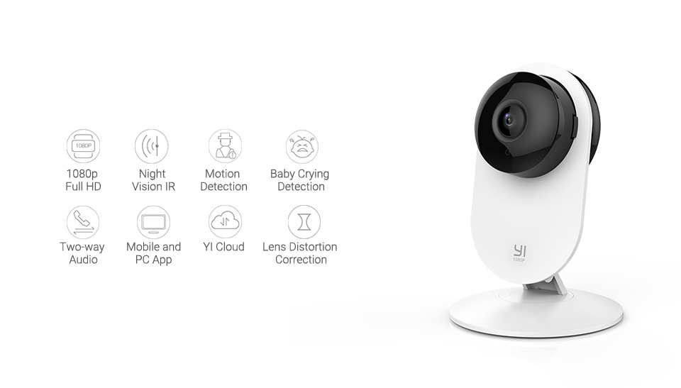 HTB1CeR1UNnaK1RjSZFBq6AW7VXaw YI 1080p Home Camera Indoor IP Security Surveillance System with Night Vision for Home/Office/Baby/Nanny/Pet Monitor YI Cloud