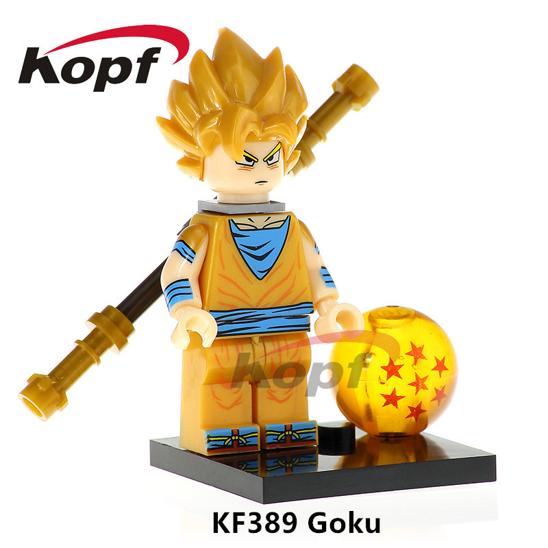 Building Blocks Super Heroes Dragon Ball Z Figures Goku Vegeta Perfect Cell Bardock Bricks Education Toys for children KF389