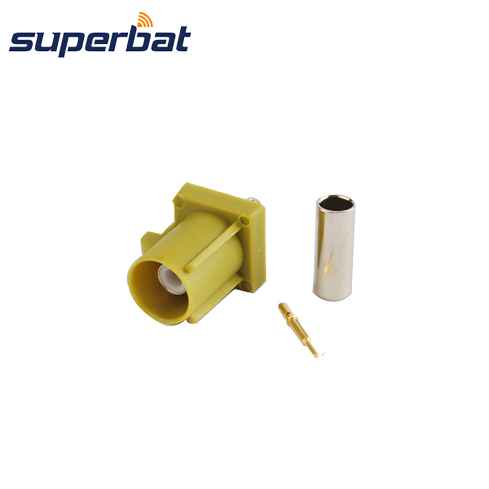 Superbat Fakra K Curry Crimp Plug Male Connector Satellitic Radio For Coaxial Cable RG316 RG174 LMR100