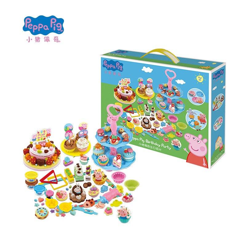 Peppa pig slime argile douce jouet argile magique non toxique pâte à modeler couleur argile moule enfants jour cadeau pour les enfants