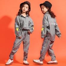 Los niños de la calle de jazz traje de baile moderno conjuntos de ropa Hip  Hop coreano trajes grupo conjunto de los niños de pri. d1921f3d541