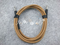 10ft Electric Guitar Cable Amp Lead Cord Amplifier Cable Audio Connection Cable Low Noise Shielded Yellow