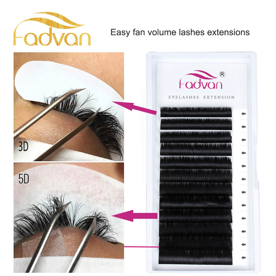 False Eyelashes New Short Stem 4d Fans Volume Eyelash Extension Individual Premium Cilios Premade Russian Cluster Eye Makeup Tool 12lines Excellent In Cushion Effect Beauty Essentials
