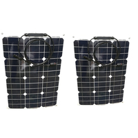 방수 유연한 태양 전지 패널 12v 35W 2 Pcs 태양 전지 충전기 패널 Solares 70 와트 24v 캐러밴 보트 자동차 캠핑 해양