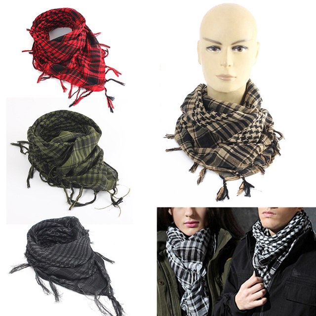 Mayitr 100x100cm Outdoor Hiking Scarves Military Arab Tactical Desert Scarf Army Shemagh With Tassel For Men Women 1