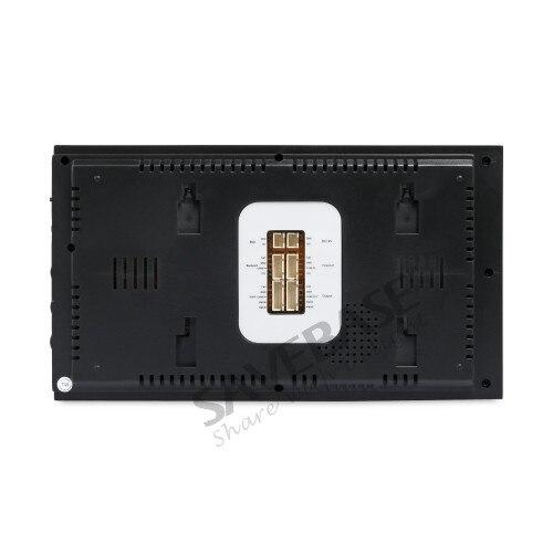 HOMSECUR 7 Wired Video Door Phone Intercom System+Intra-monitor Audio Intercom TC021-B Camera+TM704-B Monitor