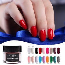 ELIKE nail color powder kit 10g without lamp cure 2019 quick dry French fashion latest dip power systems art design