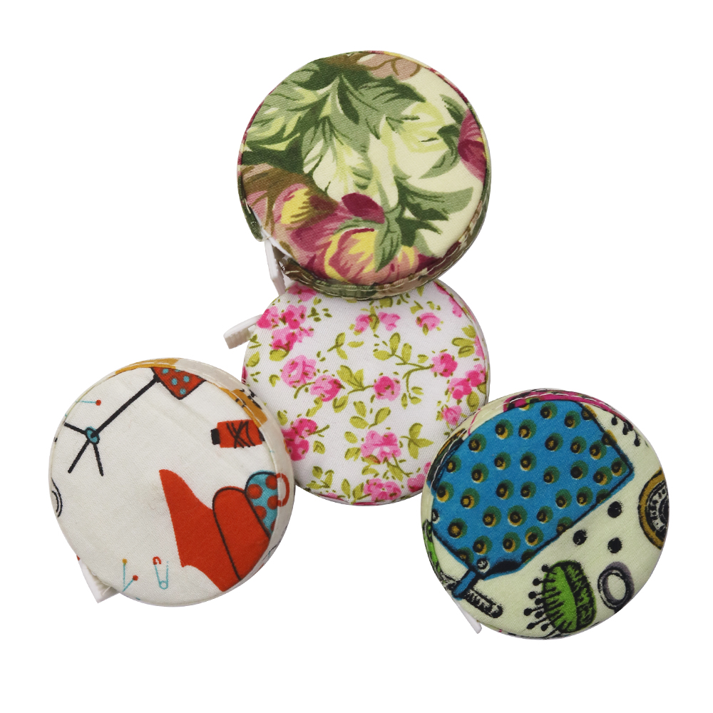 Retractable Ruler Tape Measure 1.5M//60Inch Fabric Covered Sewing Measuring Ruler