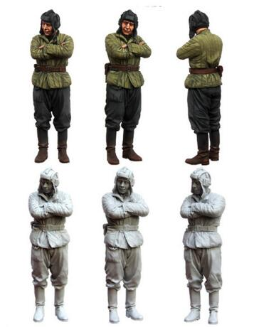 1/35 Resin Figure Red Army Tankman 1pc Model Kits