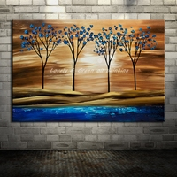 Hand Painted Trees Paintings Modern Abstract Home Decor Wall Art Picture Hand Made Landscape Oil Painting On Canvas Pop Art